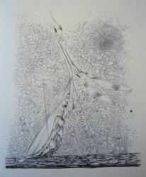 la mante religieuse 1960-crayon 50x65cm