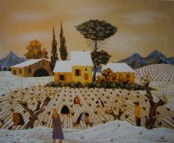 le pin aux toits blancs 1981-50x61