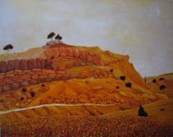 pays aux rocs rouges 1961-60x73cm