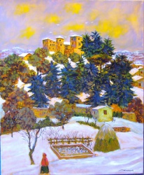 Chateau de Lanet, Novembre 2007 (last painting finished before death)