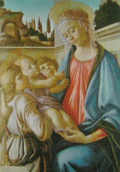 Marie et deux anges