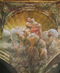 Fresque: cathedrale de Parma, Italia