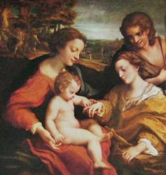 Mariage mystique de sainte Catherine, saint Sebastien, Paris Louvre