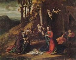 Nativite avec sainte Elisabeth et saint Jean, Milan, Brera