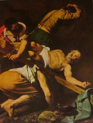 Crucifixion de saint Pierre, santa Maria del popolo, Roma