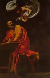 Saint Matthieu et l'ange, chiesa san Luigi dei Francese, Roma