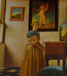 Femme devant sa virginale 2, National Gallery, London