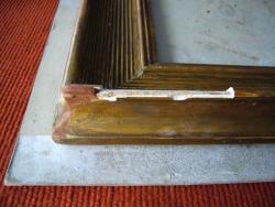 Restauration de cadre bois et plâtre. Vers 1930
