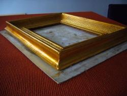 Restauration de cadre bois et plâtre. Vers 1930. Dorure à la feuille